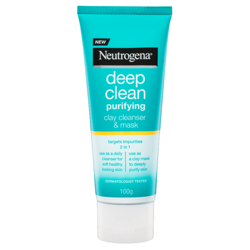 Neutrogena Deep Clean Purifying Clay Cleanser + Mask