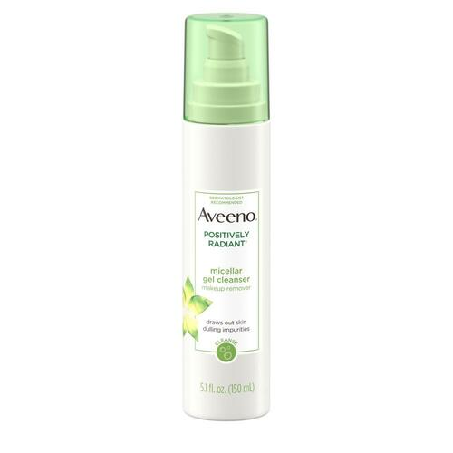 Aveeno Positively Radiant Micellar Gel Cleanser Makeup Remover