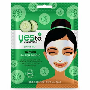 Yes To Cucumbers Calming Paper Face Mask