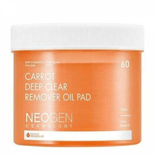 Neogen  Dermalogy Carrot Deep Clear Remover Oil Pad