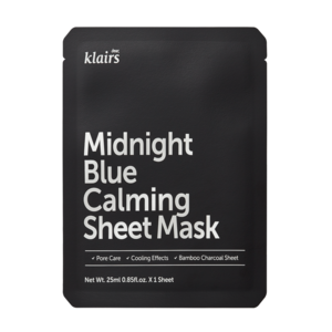 Dear, Klairs Midnight Blue Calming Sheet Mask