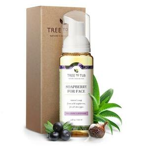 Tree to Tub Hydrating Foam Facial Cleanser for Dry, Sensitive Skin - Lavender