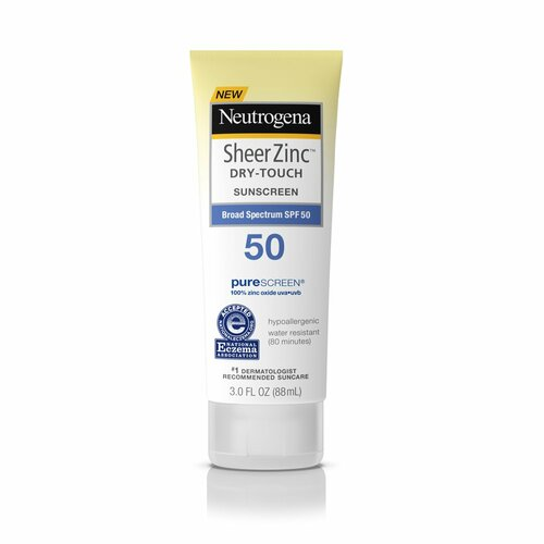 Neutrogena Sheer Zinc Sunscreen Face Lotion - SPF 50