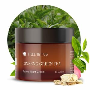 Tree to Tub Ginseng Green Tea Anti-Aging Retinol Night Cream