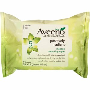 Aveeno Positively Radiant Oil Free Makeup Removing Wipes