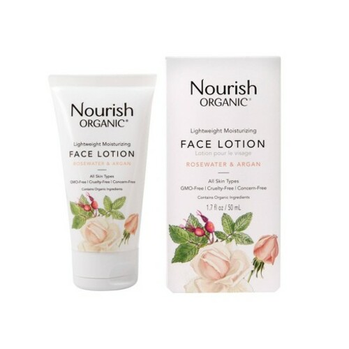 Nourish Organic Organic Lightweight Moisturizing Face Lotion