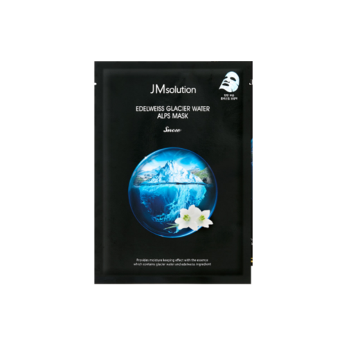 JMsolution Edelweiss Glacier Water Alps Mask Snow