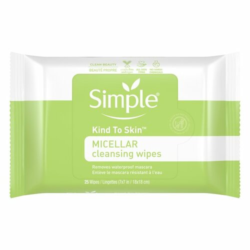 Simple Skincare Kind to Skin Micellar Makeup Remover Wipes