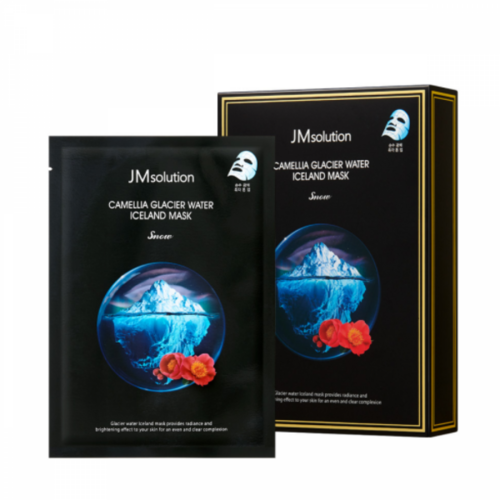JMsolution Camellia Glacier Water Iceland Mask Snow
