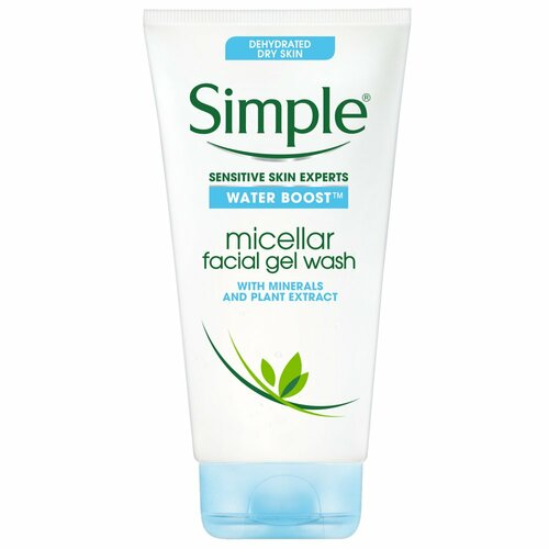 Simple Skincare Water Boost Micellar Cleansing Facial Gel Wash